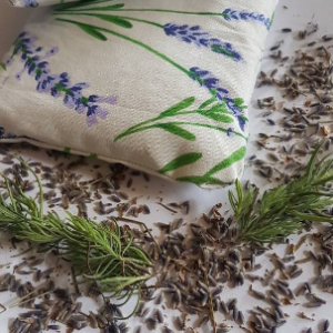 lavender flowers eye pillow