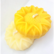beeswax candles floating