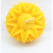 yellow beeswax candle